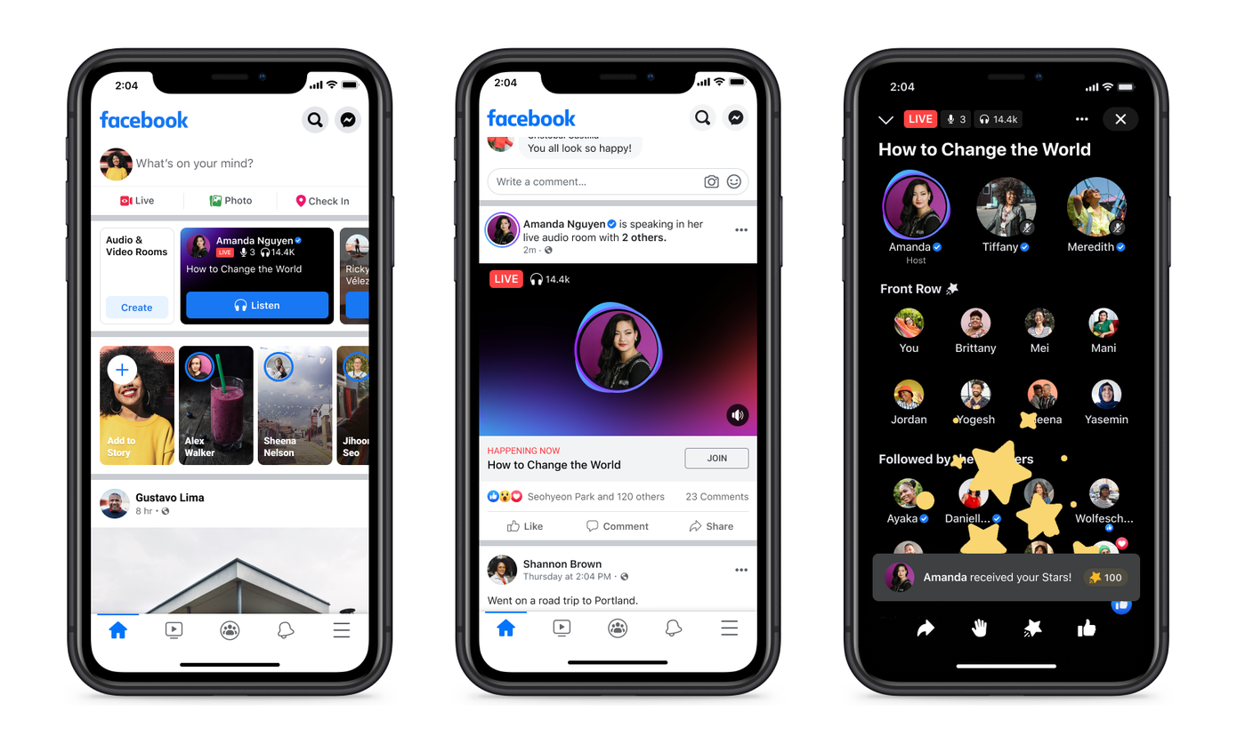 Facebook launches Live Audio Rooms and podcasts in the US