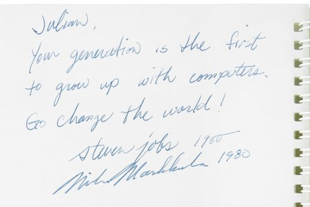 An Apple II manual signed by Steve Jobs sold for $787,484