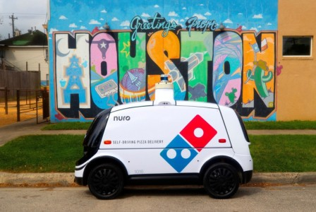 Domino's delivers pizzas with autonomous vehicles in Texas