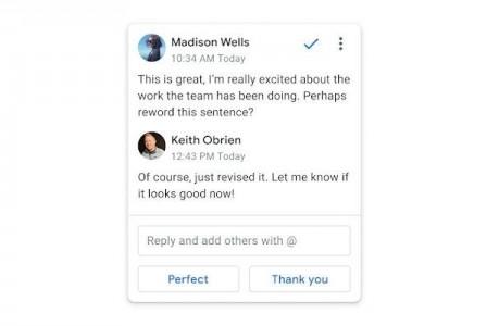 Google brings Smart Replies to Docs