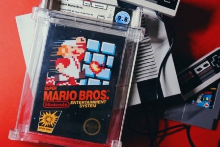 A Super Mario Bros. game sells for a record $2 million