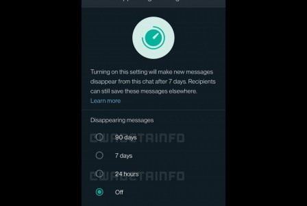 WhatsApp is working on a new 90-day option for disappearing messages