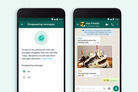 WhatsApp is testing self-destructed photos feature
