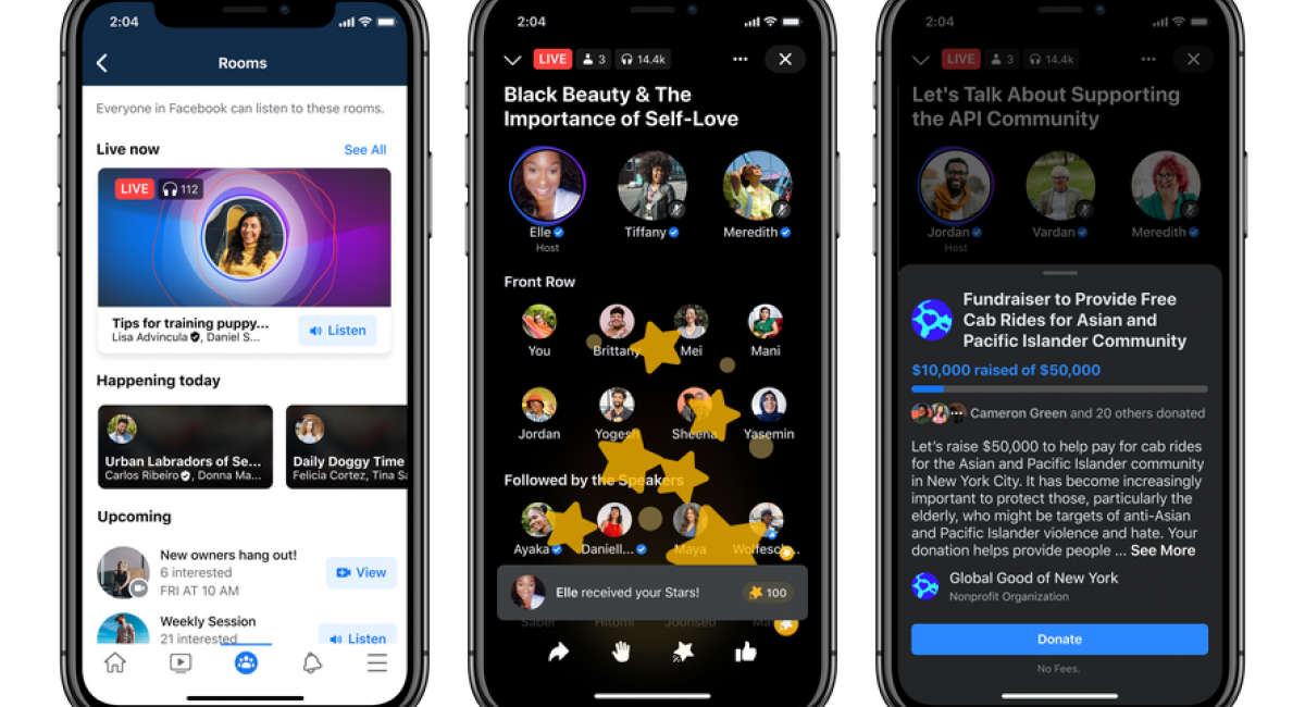 Facebook rolls out Live Audio Rooms to creators and public figures globally