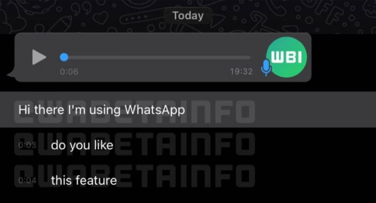 WhatsApp working on transcription feature for voice messages